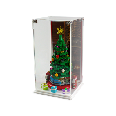 Limited Edition Christmas display case for LEGO VIP Christmas Tree (40338) - Wicked Brick