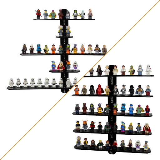 Tiers for LEGO Minifigures Wall Mount (Stage 2) - Wicked Brick