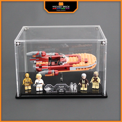 Display case for LEGO Star Wars: Luke's Landspeeder (75173) - Wicked Brick