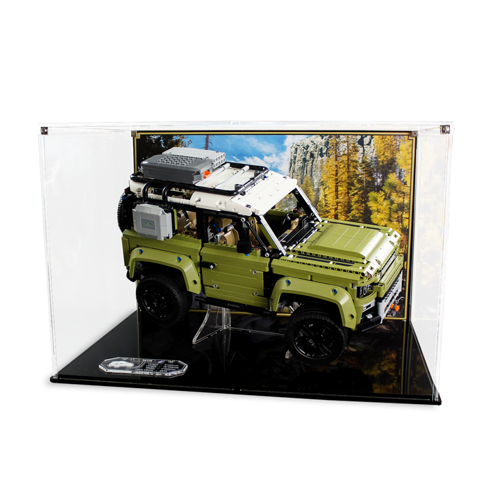 Display case for LEGO Technic: Land Rover Defender (42110) - Wicked Brick