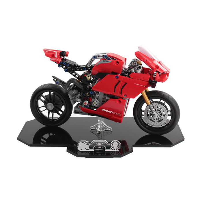 Display stand for LEGO Technic: Ducati Panigale V4 R (42107)
