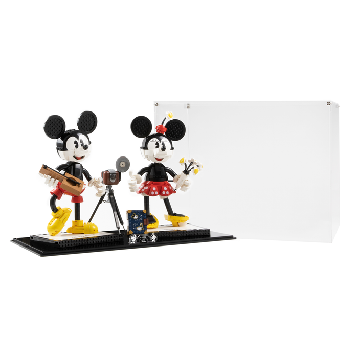 Display case and stand for LEGO Mickey and Minnie Mouse 43179 (Without background)