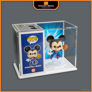 "Themed Premium display case for 4"" Funko POP Figure and Box"