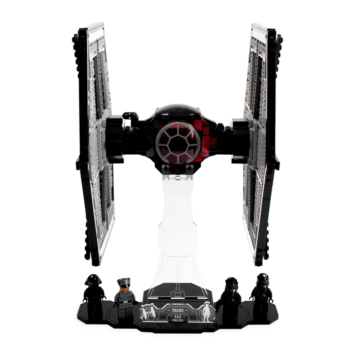 Display solutions for LEGO Star Wars: First Order TIE Fighter (75101) - Wicked Brick