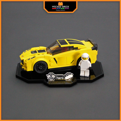 Display solutions for LEGO Speed Champions: Chevrolet Corvette Z06 (75870) - Wicked Brick