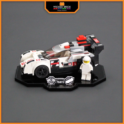 Display solutions for LEGO Speed Champions: Audi R18 E-Tron (75872) - Wicked Brick