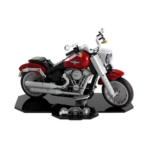 Display stand for LEGO Creator: Harley Davidson Fatboy (10269) - Wicked Brick