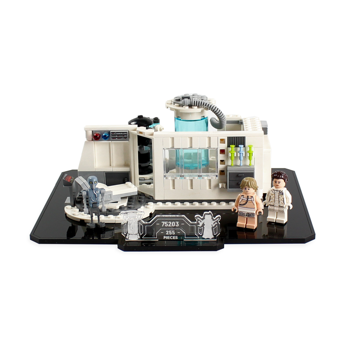 Display stand for LEGO Star Wars: Hoth Medical Chamber (75203) - Wicked Brick