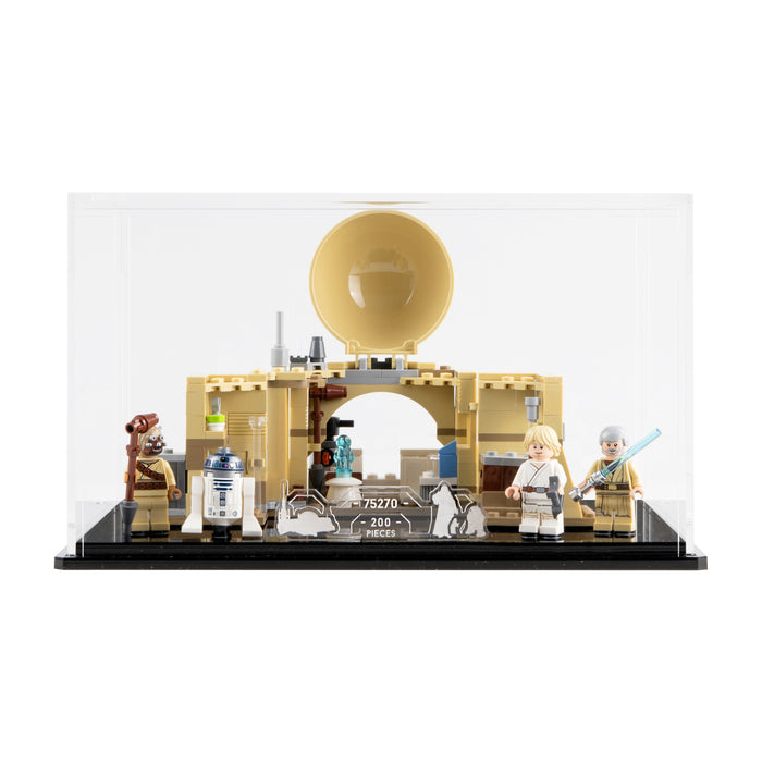 Display case for LEGO Star Wars: Obi-Wan's Hut (75270)