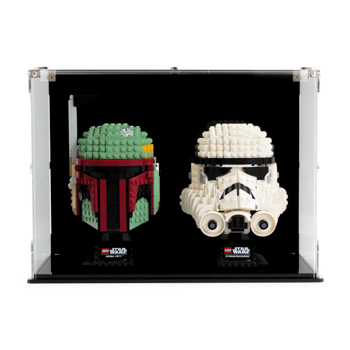 Dual display case for two LEGO Star Wars: Helmets (75274 75276 75277) - Wicked Brick
