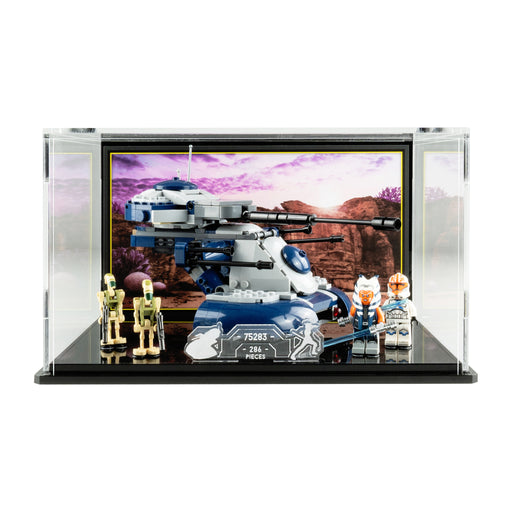 Display case for LEGO Star Wars: Armoured Assault Tank AAT (75283)