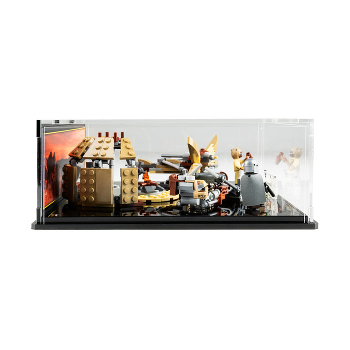 Display case for LEGO Star Wars: Trouble on Tatooine (75299)