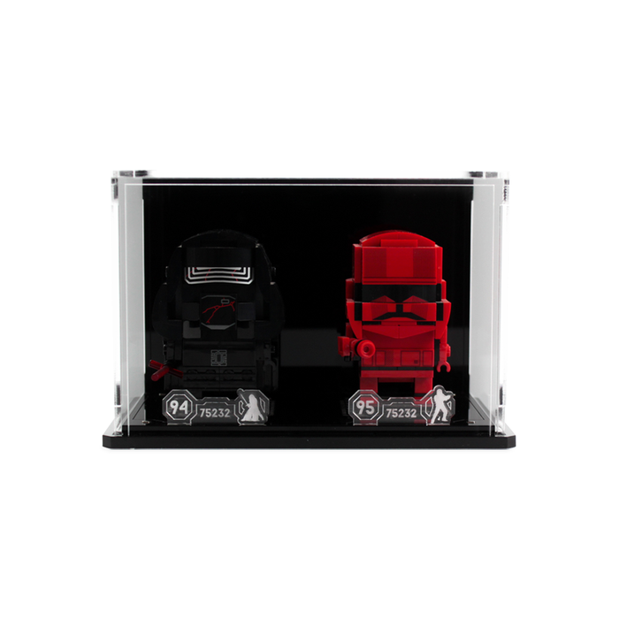 Display case for two LEGO Brickheadz