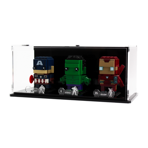 Display case for three LEGO Brickheadz