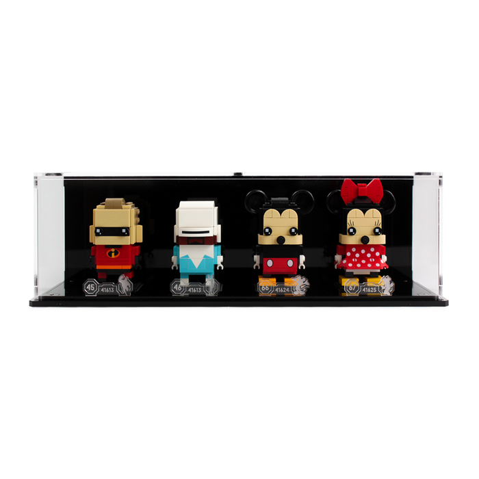 Display case for four LEGO Brickheadz