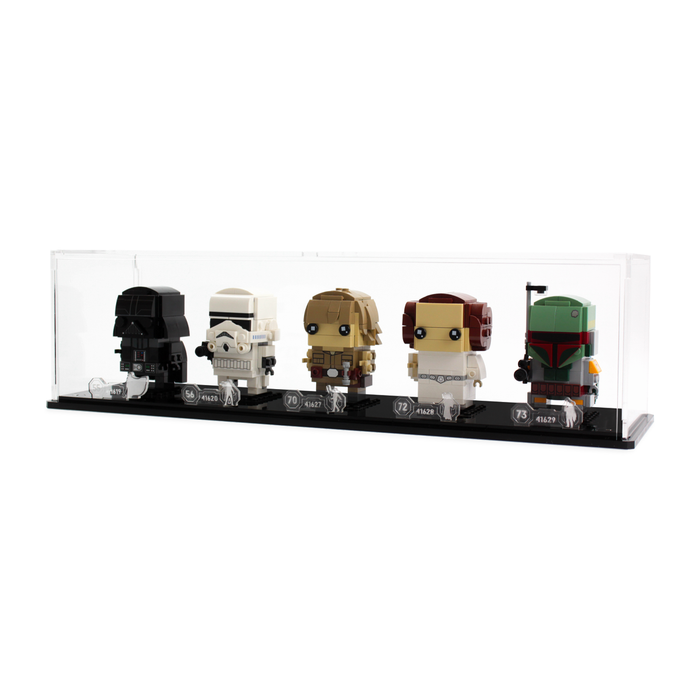 Display case for five LEGO Brickheadz