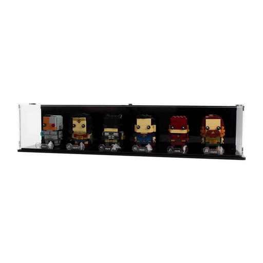 Display case for six LEGO Brickheadz