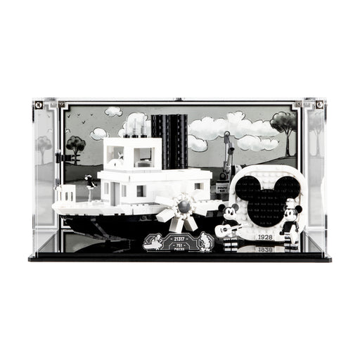 Display case for LEGO Ideas: Steamboat Willie (21317)