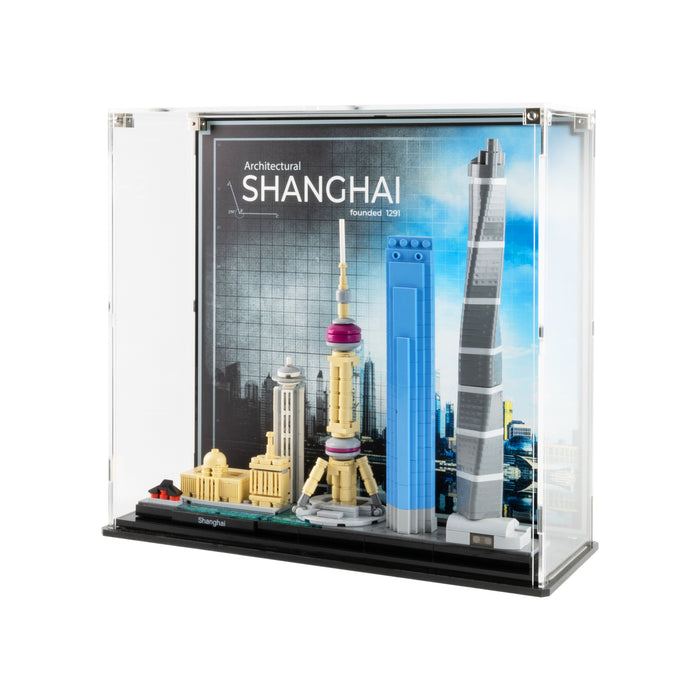 Display Case for LEGO Architecture: Shanghai Skyline (21039)