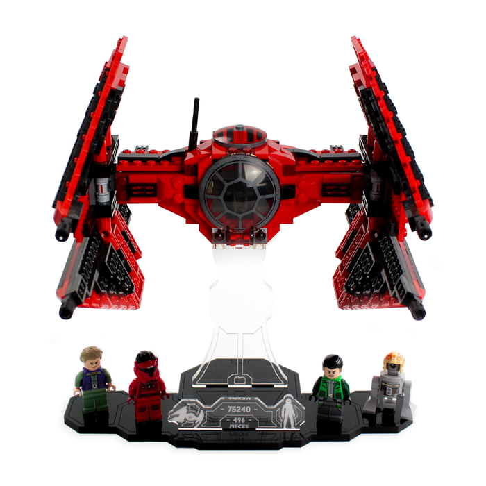 Display solutions for LEGO Star Wars: Major Vonreg's TIE Fighter (75240) - Wicked Brick