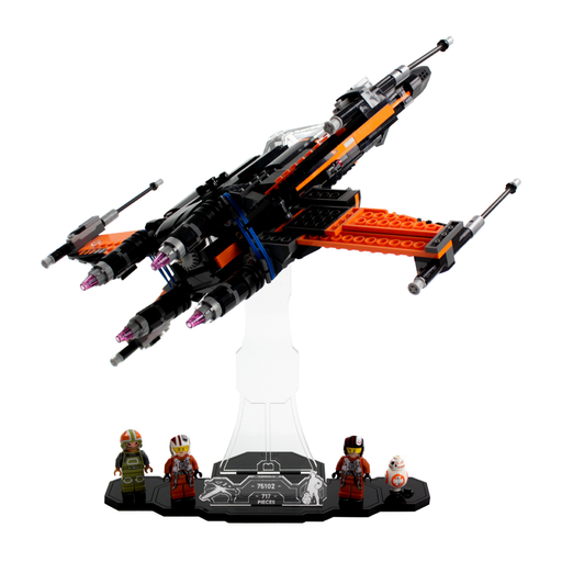 Display solutions for LEGO Star Wars: Poe's X-Wing (75102)