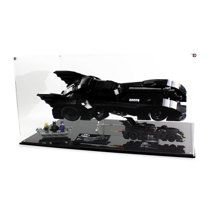 Dual display case for LEGO DC: Batmobile (76139) and Batmobile (40433) - Wicked Brick