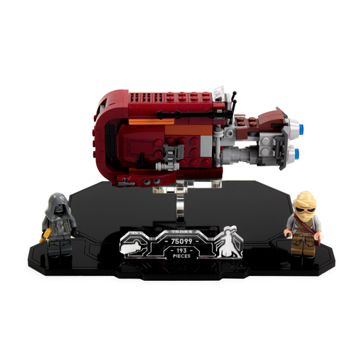 Display solutions for LEGO Star Wars: Rey's Landspeeder (75099) - Wicked Brick