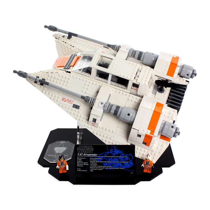 Display stand for LEGO Star Wars: UCS Snowspeeder (75144) - Wicked Brick