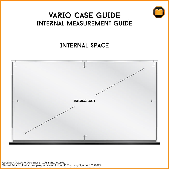 Vario display case (Black Edition) - 202mm deep