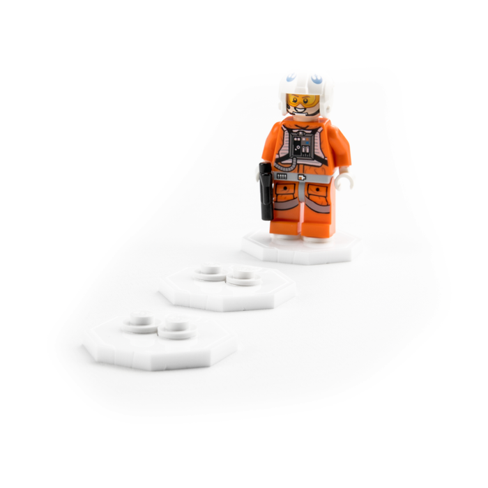 Solo display stands for LEGO Minifigures (Pack of 5)