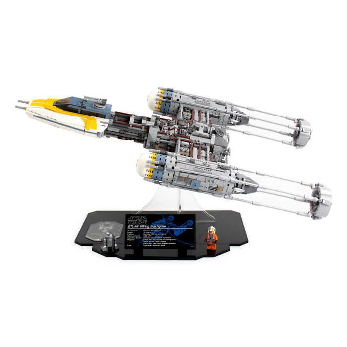 Display stand for LEGO Star Wars: UCS Y-Wing (75181) - Wicked Brick