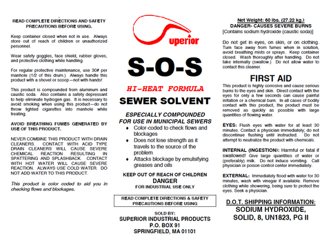SOS Hi Heat  - Powerful Sewer Solvent with Aluminum Needles