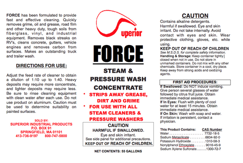 Force - Concentrated Pressure Wash Detergent