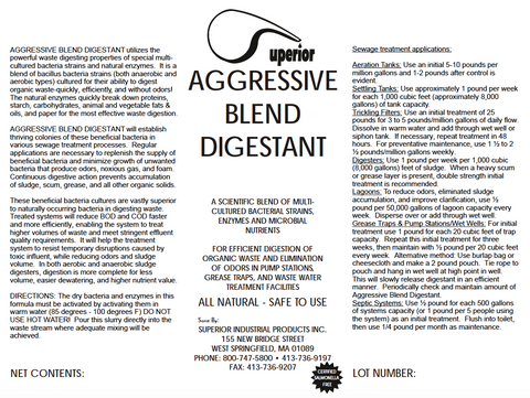 Aggressive Blend Digestant - BioEnhancer for Sewer and Waste Water Treatment use