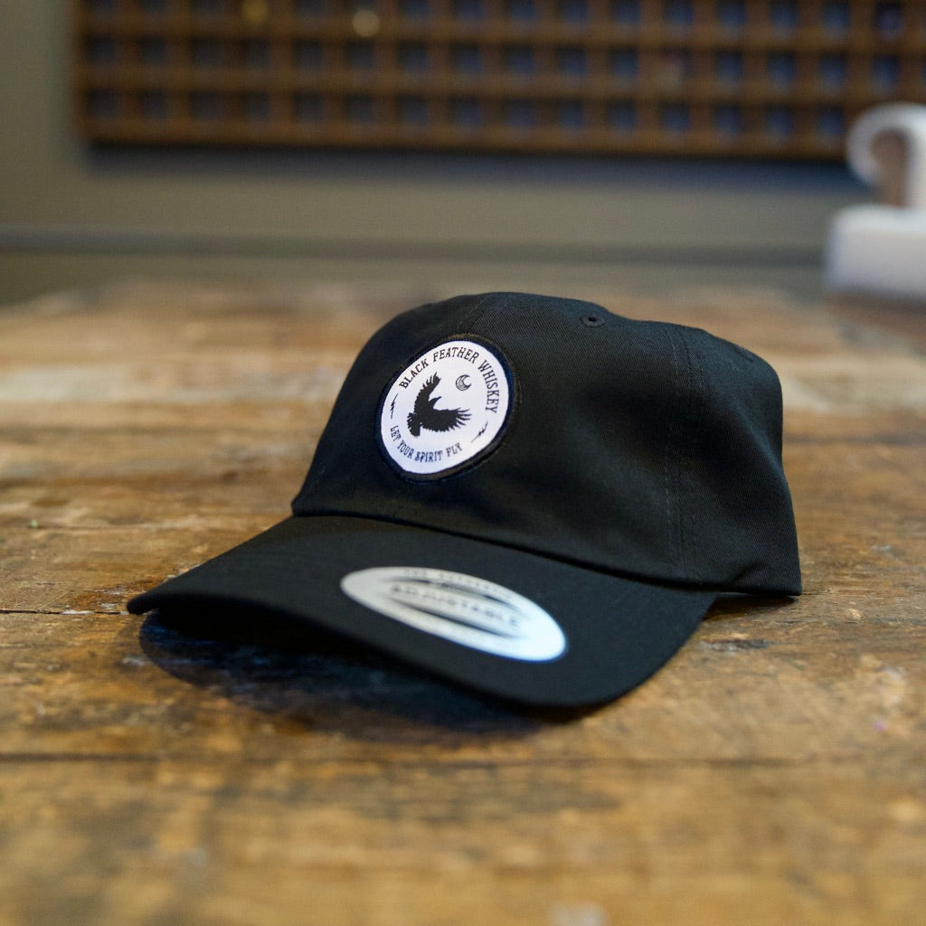 Black Feather Dad Hat