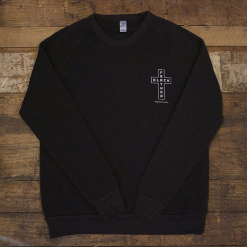 Black Feather Cross Pullover