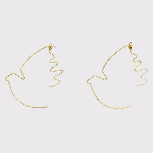 Paloma de Paz y Libertad (Dove of peace and freedom) Earrings