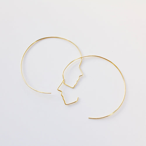 Express Your Face | 18k Yellow Gold Covered Silver |