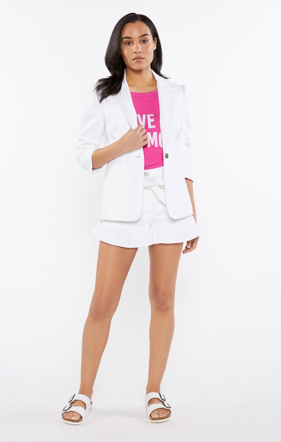 White Denim Khloe Blazer