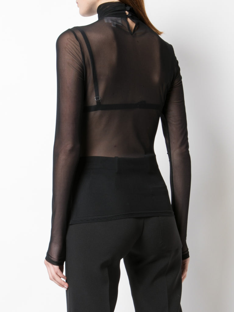 Whimsical Love Story Mesh Turtleneck