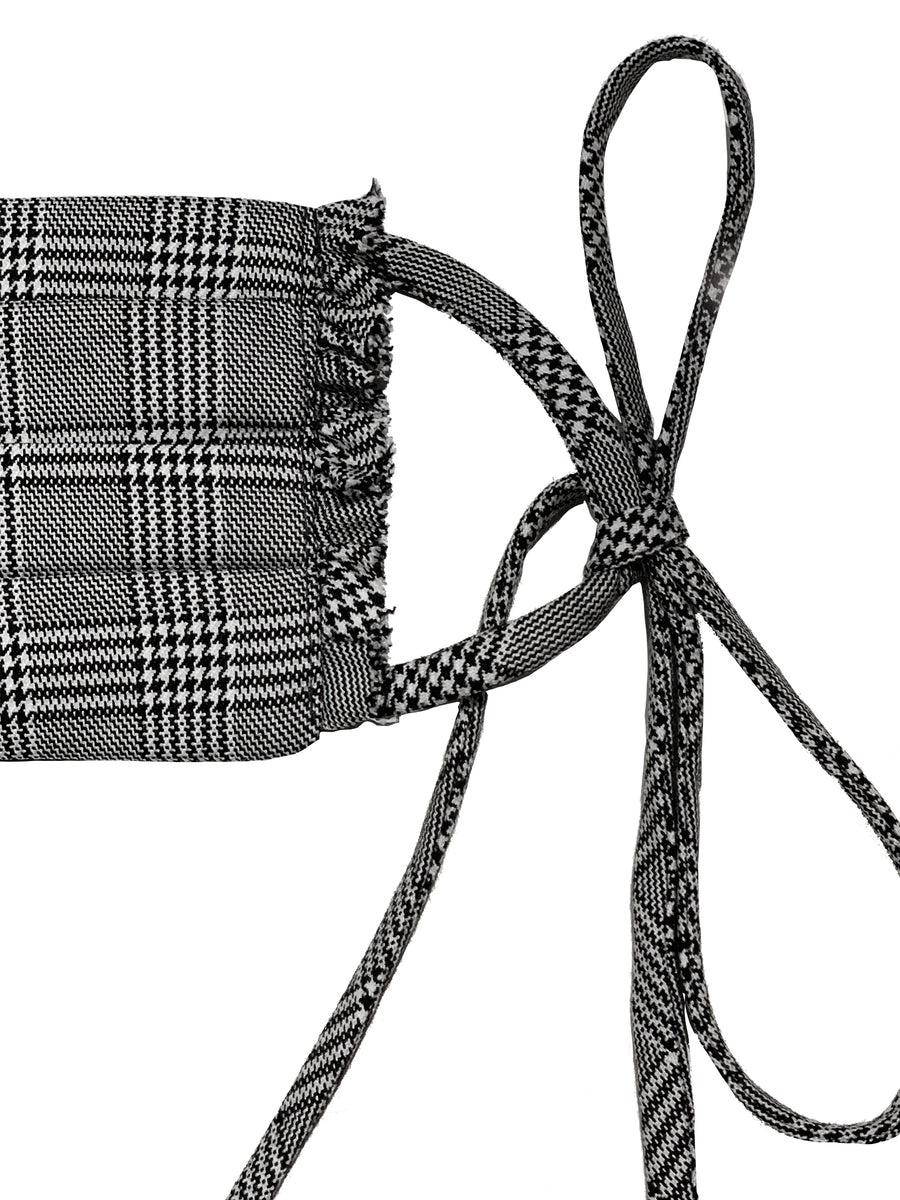Houndstooth Plaid Face Mask