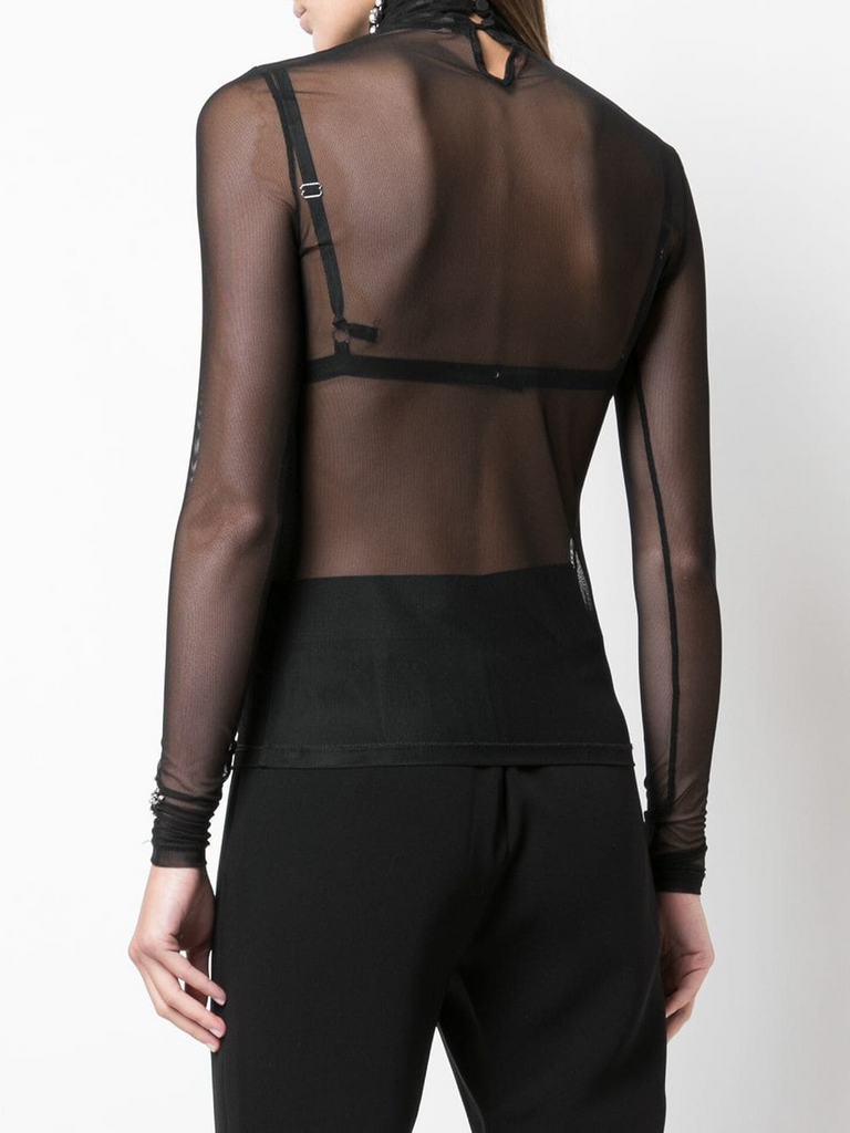 Shooting Star Mesh Turtleneck