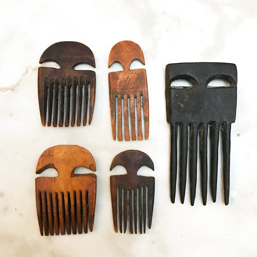 African wooden combs