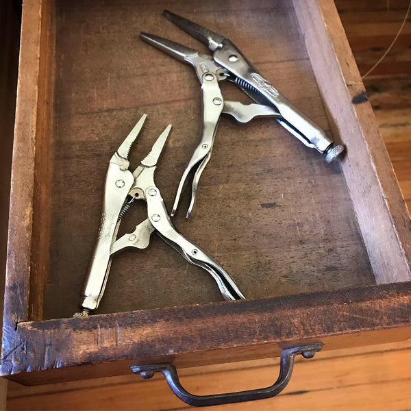 Vice grips in a drawer