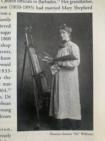 Dé Williams at her easel