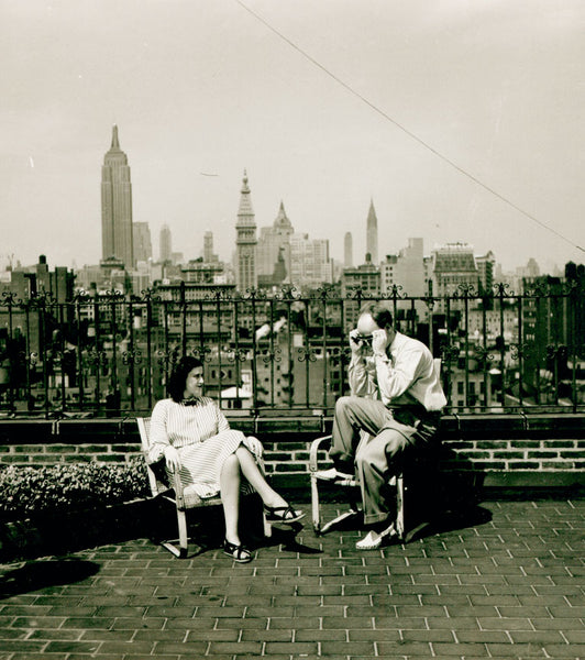 Illustrator Garth Williams with his second wife, Dorothea Dessauer, in New York City