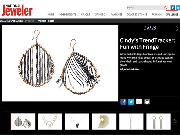 Fringe jewelry in National Jeweler