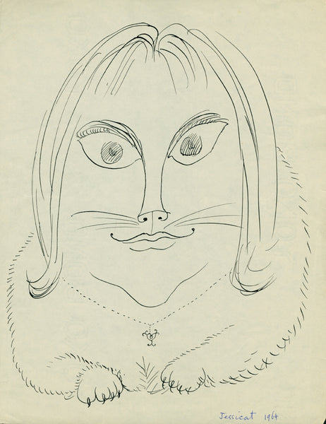 Garth Williams portrait of his daughter Jessica as a cat