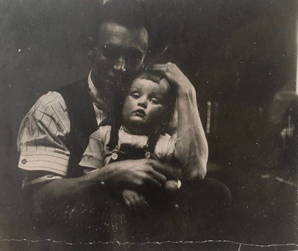 Artist Garth Williams as a child with his father, Monty Williams