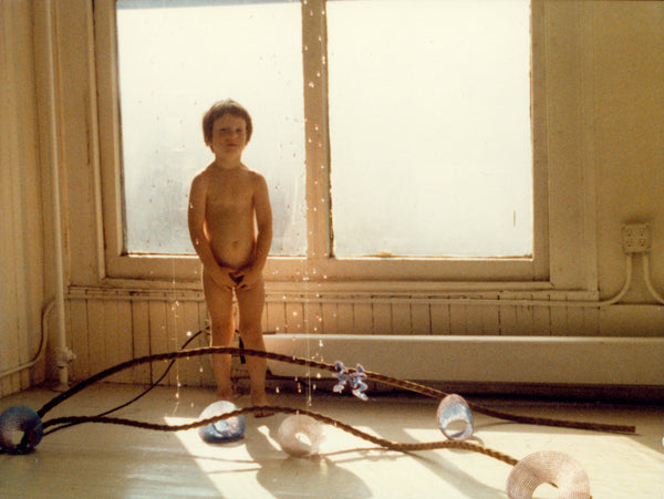 Jessica Rose's West Broadway NY artist loft with nephew Garth Hulbert, 1981